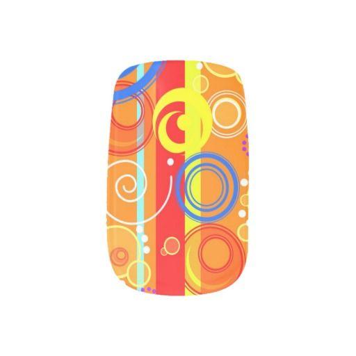 Orange designs with circles