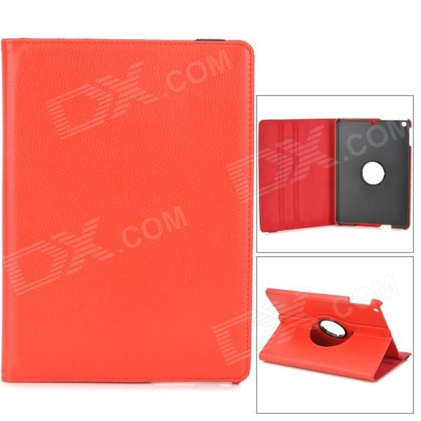 Color: Red + Black; Brand: N/A; Quantity: 1 Piece; Material: PU leather; Compatible Models: Ipad AIR; Style: Full Body CasesFlip Open; Auto Wake-up / Sleep: Yes; Other Features: Protects your device from scratches dust and shock; Can be rotated 360 degrees; Packing List: 1 x Protective case; http://j.mp/1BtQCaH