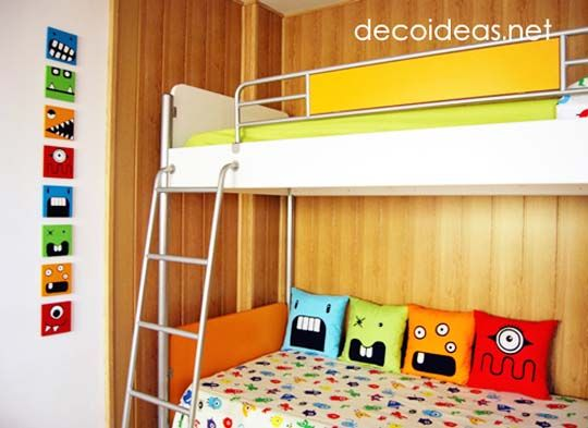 Monsters theme in a modern boys' bedroom - from Apartment Therapy