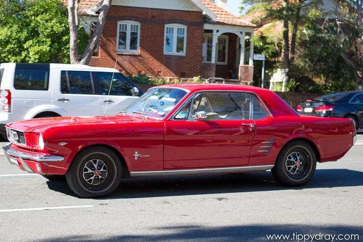 Vintage Red Ford Mustang