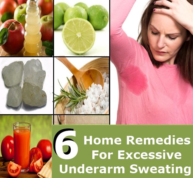 6 Beneficial Home Remedies For Excessive Underarm Sweating