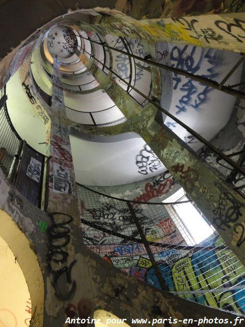 Les escaliers des Frigos, 19, rue des Frigos, Paris 75013.