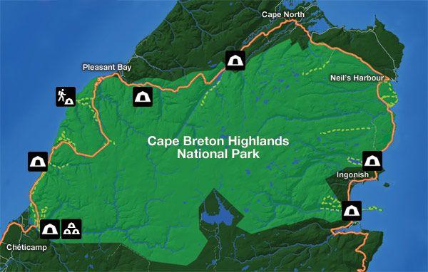 Map - Camping Cape Breton Highlands