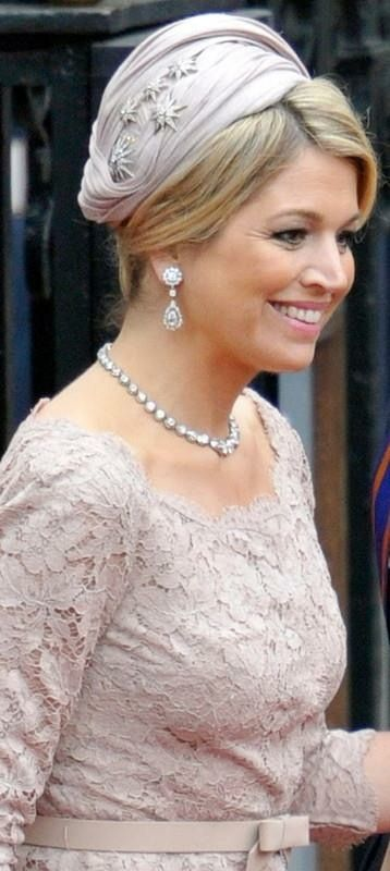Queen Maxima. She wears the diamond stars a lot. Then in her hair, on her dress, on a tiara....