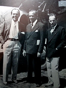 Jack Warner (left), Al Jolson, and Darryl F. Zanuck, 1927