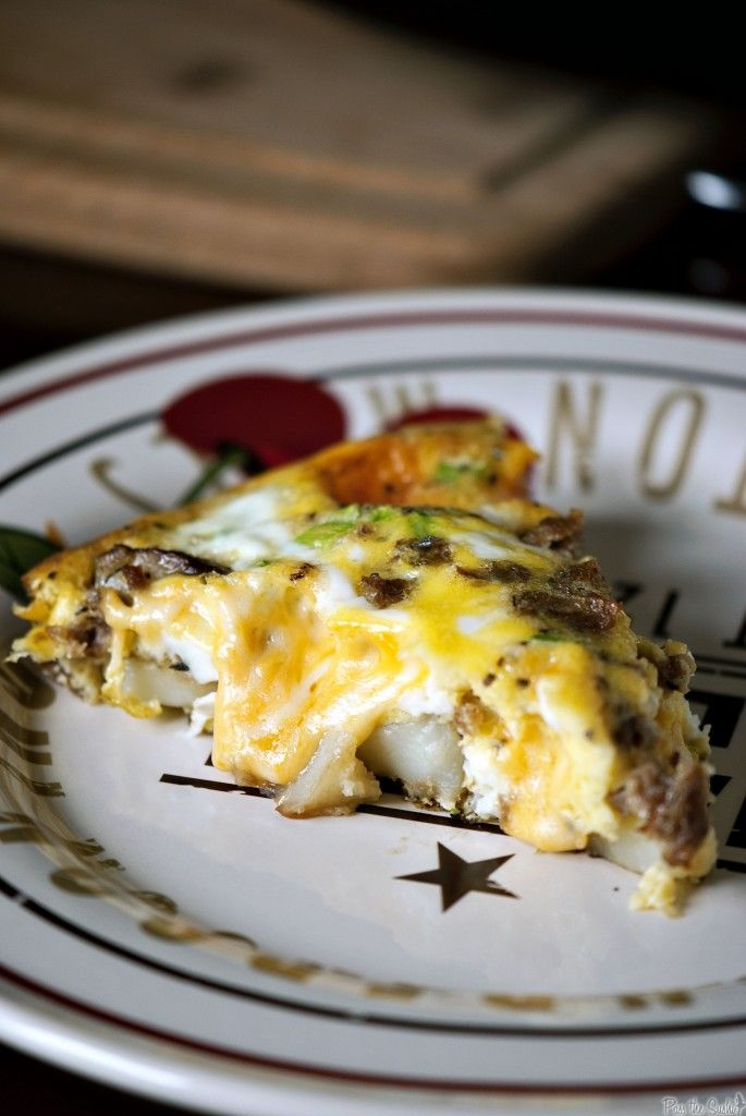 Cheesy Potato Frittata by passthesushi as seen on The Weekend Gourmet, adapted from Ina Garten #Frittata #Ina_Garten #passthesushi