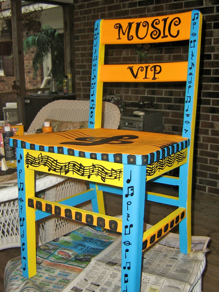 Music VIP chair - students chosen for their outstanding behavior the previous week get to sit in the chair and be a special helper