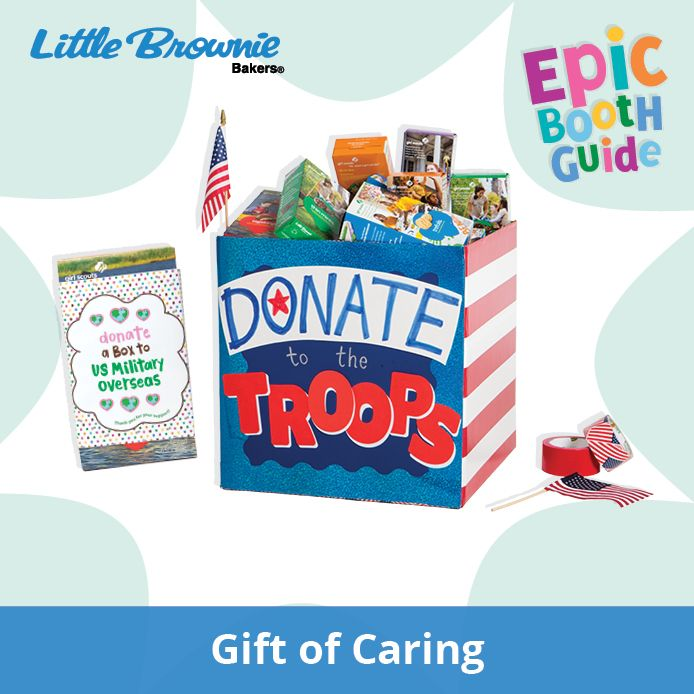 With Gift of Caring, customers have a chance to buy cookies to donat… | Epic Booth Guide | Girl …