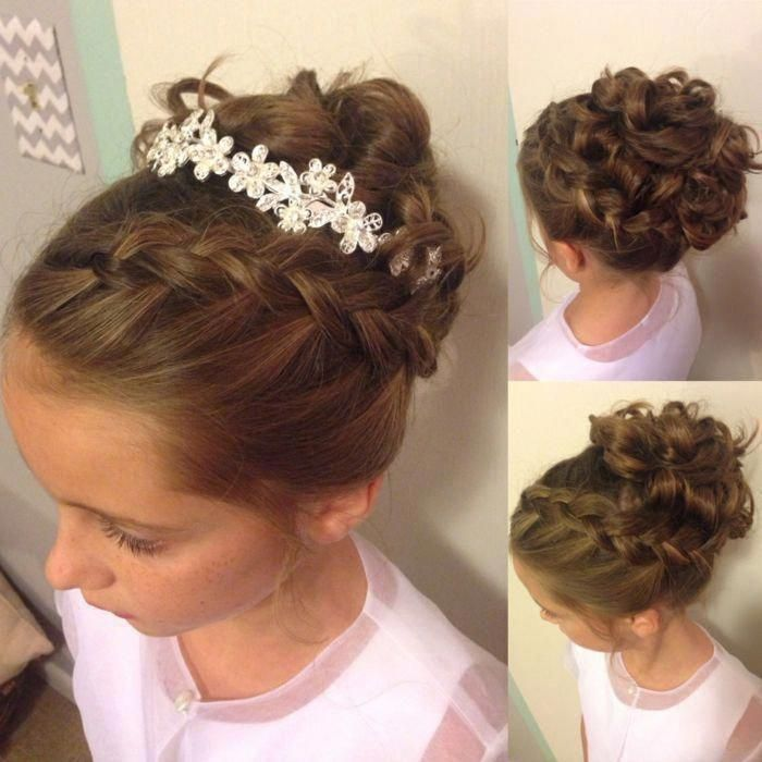 Pin By Hairstyle Ideas On Prendergast Wedding Girls Updo Hairstyles Flower Girl Hairstyles Flower Girl Updo