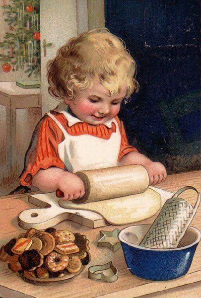 Little baking girl