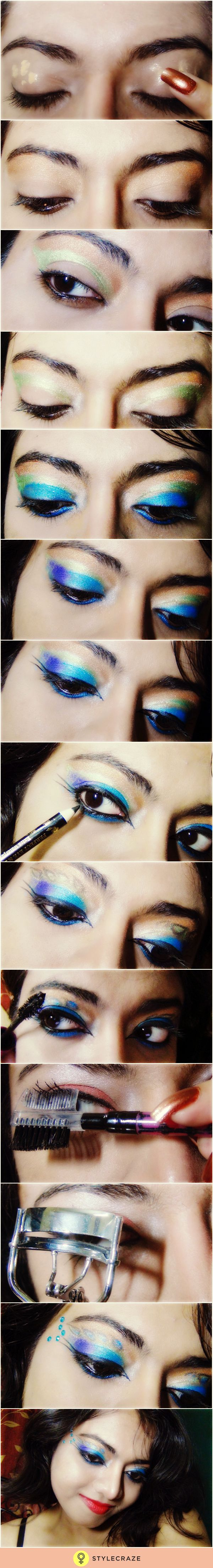 Dramatic Peacock Feathers Flowers Bridal Bouquet Purple: 17 Best Ideas About Peacock Eye Makeup On Pinterest