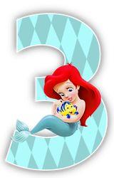 Alfabeto de la Sirenita con Flounder.   Oh my Alfabetos!