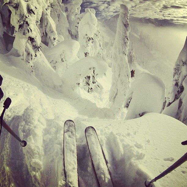 Oh baby I live lines like this my favorite way to ski. Well this and chutes!!