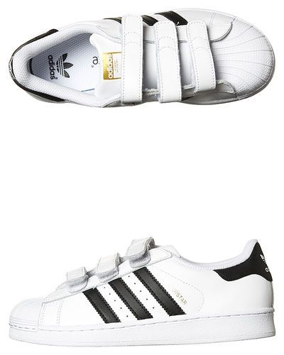 New Adidas Originals Kids Superstar Foundation Shoe Children Boy's Shoes  White