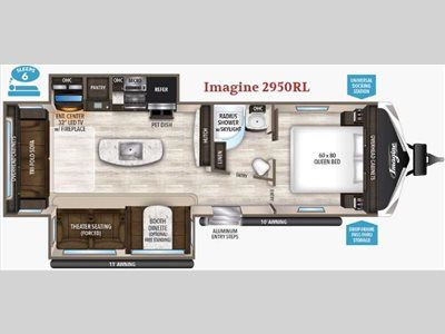 Floorplan - 2017 Grand Design Imagine 2950RL
