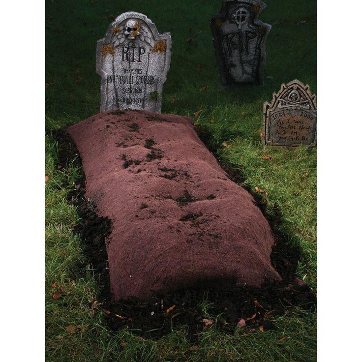 Halloween Grave Mound Ground Prop Brown