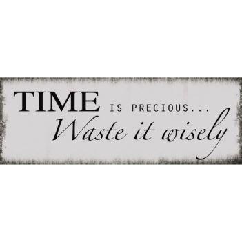 Epic Xavax Dekoschild Vintage Blechschild mit Spruch Wanddeko Metall Time x cm