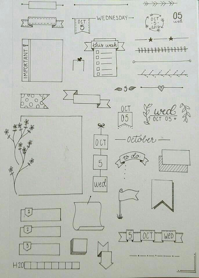 37+ Einfache Bullet Journal-Ideen, um Ihre ehrgeiz…