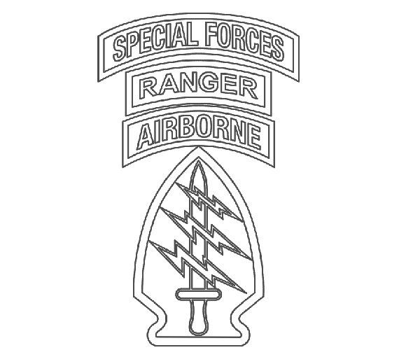 US Army Special Forces Patch w/Ranger Tab Vecor by DigitalByRLC