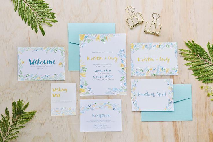 Tropicana ! Wedding and Colour Invites #handpainted #watercolour