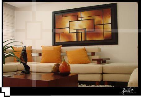 Decoracion de salas con cuadros y espejos cuadros para - Decoracion de interiores con cuadros ...