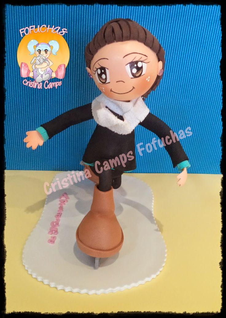 Cristina Camps Fofuchas: Fofucha patinadora