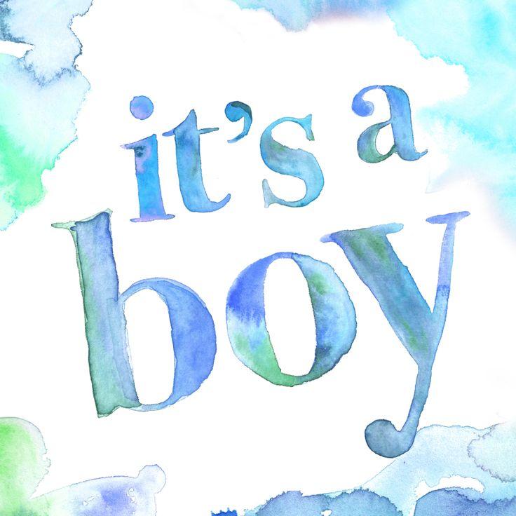Mooie felicitatiekaart voor een zoon met waterverf, verkrijgbaar bij #kaartje2go voor € 1,99