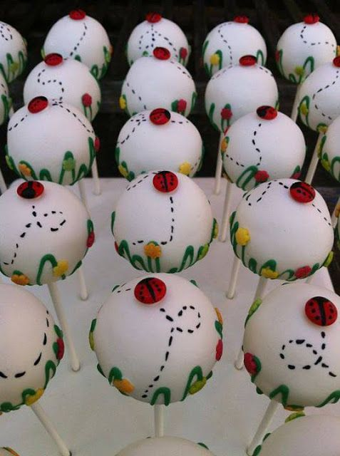 Little Ladybugs in the Garden Cake Pops by My Cake Pops