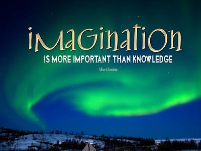 Inspirational Albert Einstein Quote - Imagination is more important than knowledge