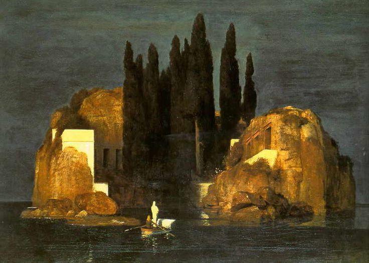 """"""" L'isola dei morti """" di Arnold bocklin"""