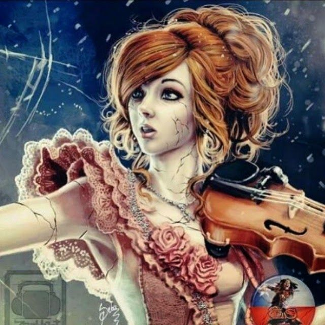 This artwork of Lindsey Stirling's shatter me music video is incredible. (The music video itself is quite incredible as well.)