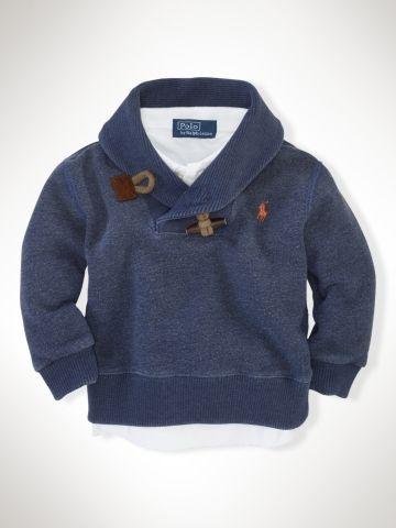 Toggle Shawl Fleece - Infant Boys Tops - RalphLauren.com
