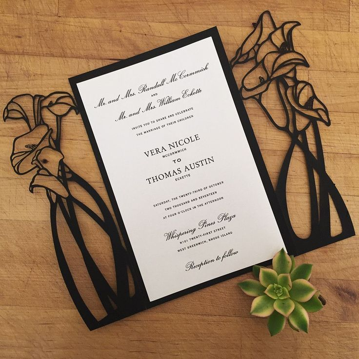 Calla Lily A9 Invite Blank weddinginvitations