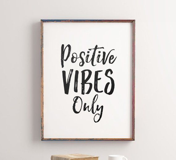 Good Vibes Only Canvas Wall Art Positive Quotes Home Office Decor Prints