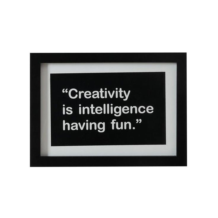 Creativity Framed Quote