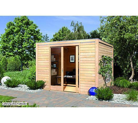 Karibu Gartenhaus Cubus Front, naturbelassen | GartenXXL.de
