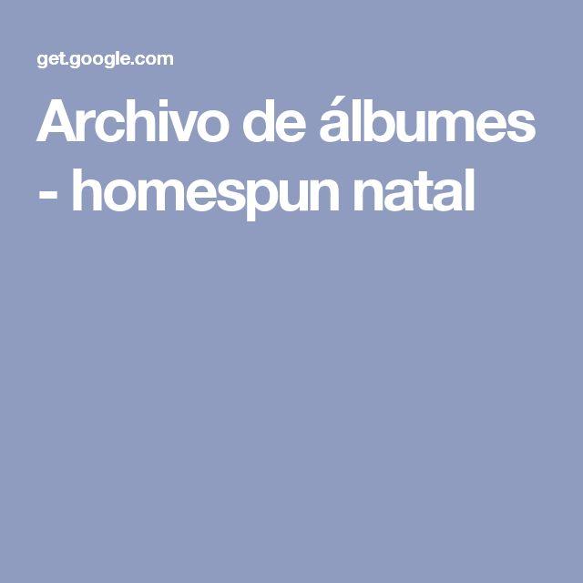 Archivo de álbumes - homespun natal