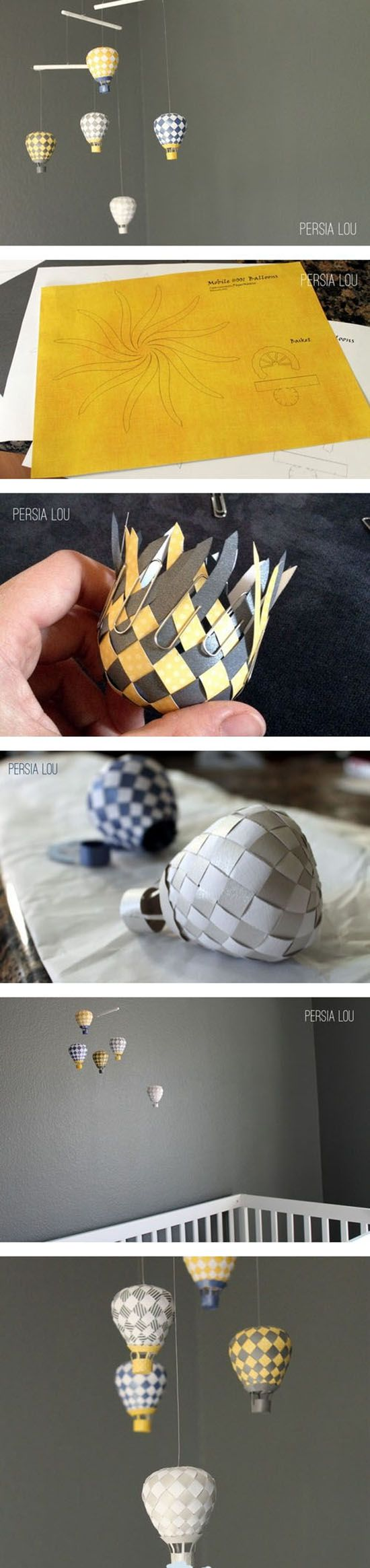 Diy Cute hot air balloons. So cool!