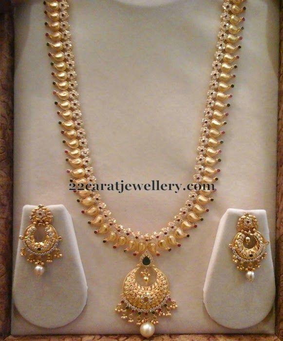 Jewellery Designs: 83 Grams CZ Fancy Long Chain