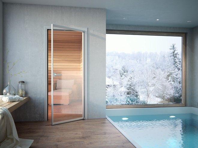 Celoskleněné dveře Sapeli - METALIK dveře k bazénu nebo do sauny