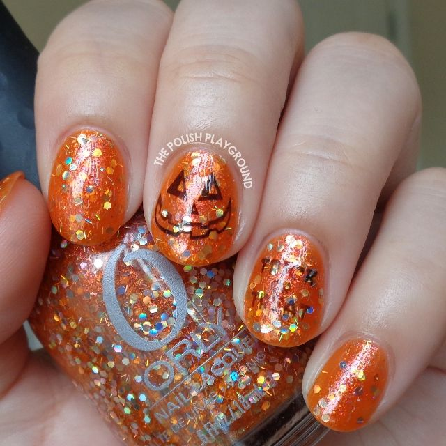Orange and Black Halloween Inspired Stamping