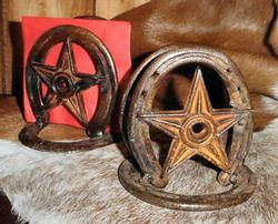 Horseshoe w/Lone Star Napkin Holder $22.00