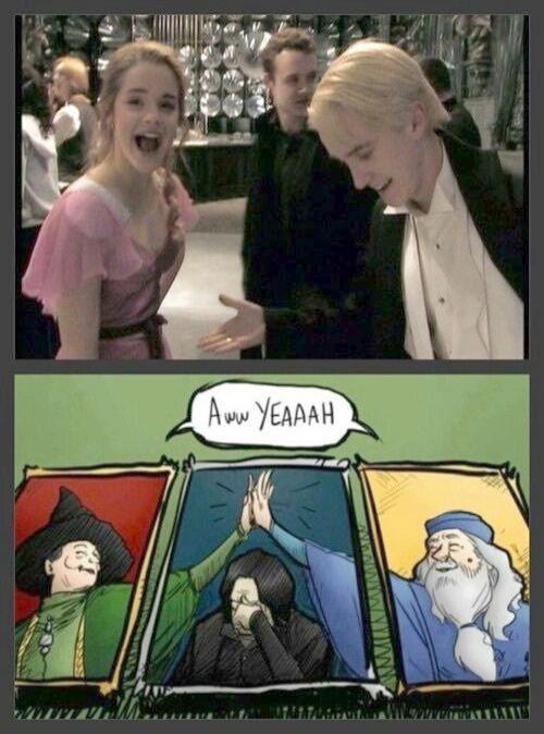 Harry Potter Charaktere Slytherin … Harry Potter Memes Draco und Hermine es i …
