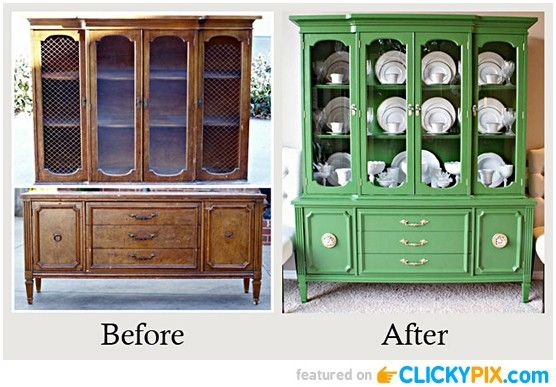 20 before and after furniture makeovers m veis for Before and after furniture makeovers