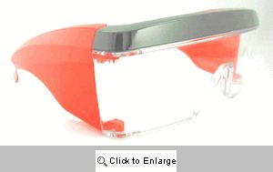 Jack-Attack Clear Glasses Sunglasses - 435 Red