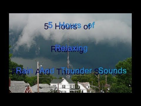 5 Hours of Relaxing Rain And Thunder Sounds - http://www.soundstorelax.com/nature-sounds/weather/rain/5-hours-of-relaxing-rain-and-thunder-sounds/