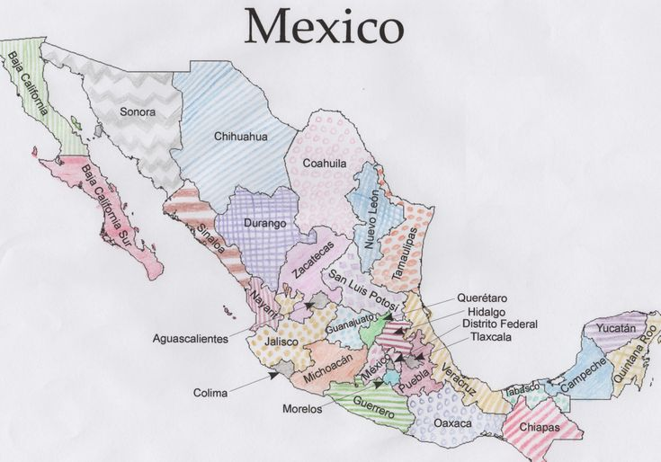 Crazy image with printable maps of mexico