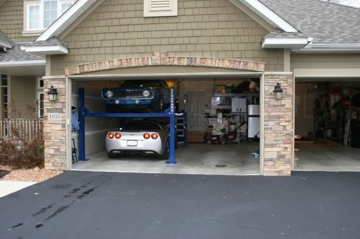 61 best for the garage images on pinterest garages for Garage plans with lift