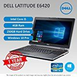 Dell Latitude E6420 Core i5 2.4 - 2.67GHz 4GB 250GB HDD DVD Windows 10 Pro 64Bit sold and warranted by Easy buy (CRS-UK) Registered Trade Mark No.UK00003100631