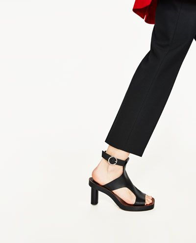 Image 6 of LEATHER HIGH HEEL SANDALS from Zara
